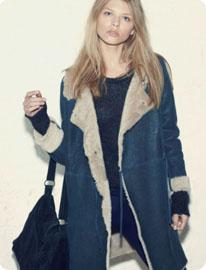 Manteau hiver rock femme