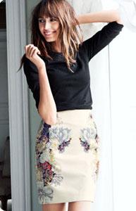 b278c6141fb5 Jupe crayon fleurie jupe en jean droite mi longue