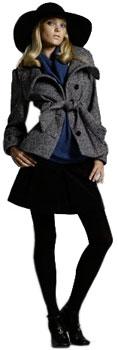 Manteau femme court avec ceinture