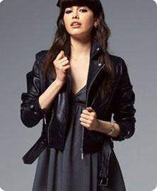 Veste perfecto femme simili cuir